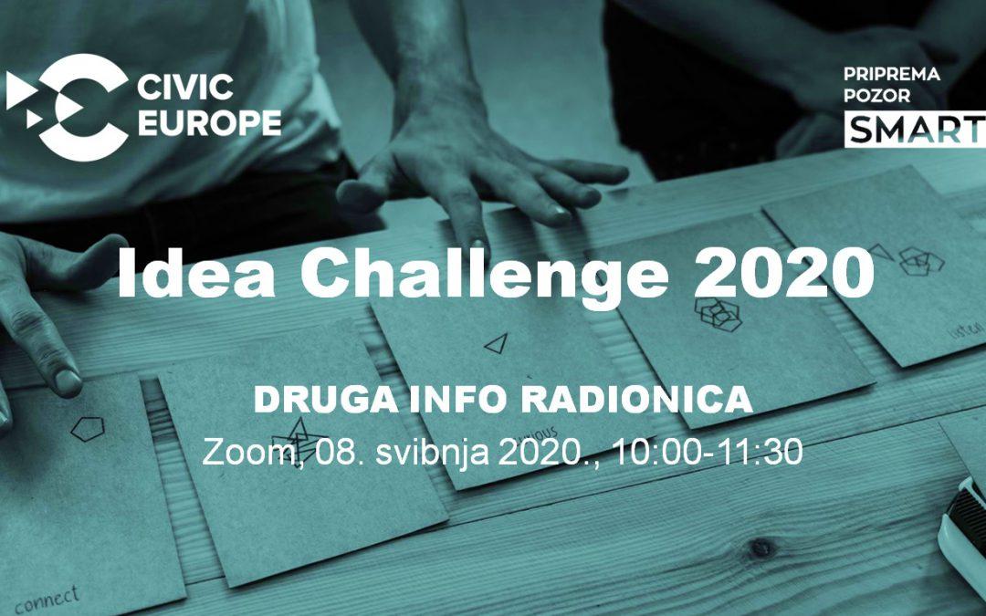"""Poziv na drugu info radionicu o programu """"Civic Europe Idea Challenge"""""""