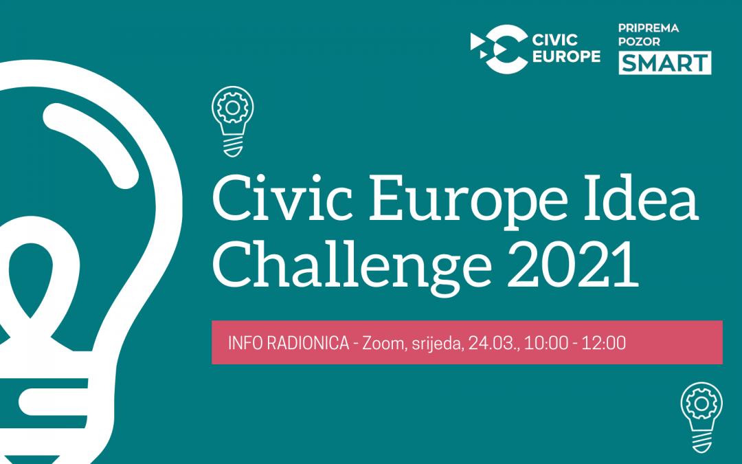 "Poziv na info radionicu o ""Civic Europe Idea Challenge 2021"""