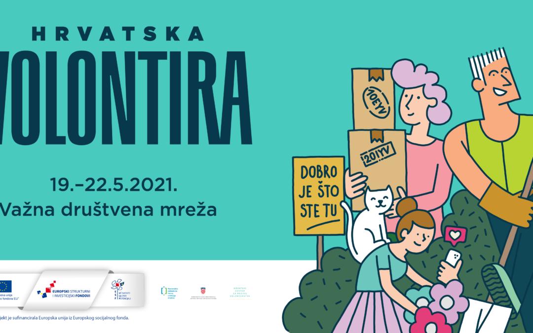 Hrvatska volontira 2021. Poziv organizacijama na prijavu aktivnosti